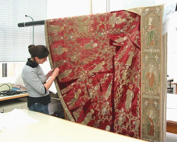 Alice Cole, Textile Conservation, with the Victoria and Albert Museum