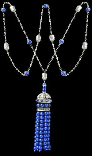 Silver and Lapis Lazuli Sautior