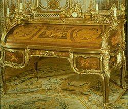Secrétaire à cylindre de Louis XV