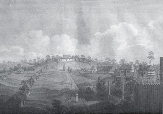 Governor Phillip's cottage Parramatta 1790's