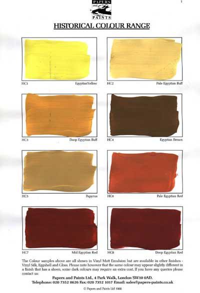Historical Colour Range Papers-Paints, London