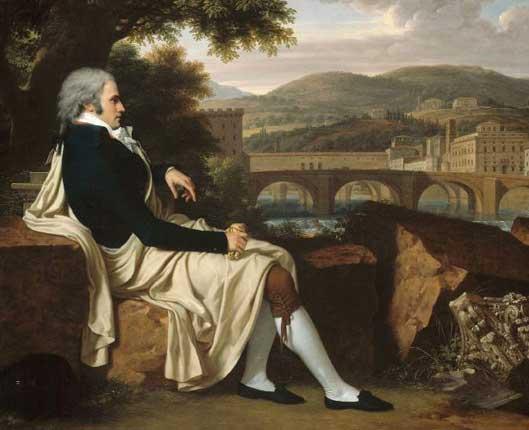 American Grand Tourist Joseph Allen Smith Overlooking the Arno, Fitzwilliam Museum, Cambridge