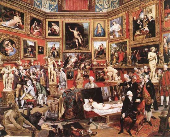 Tribuna of the Uffizi by Johann Zoffany