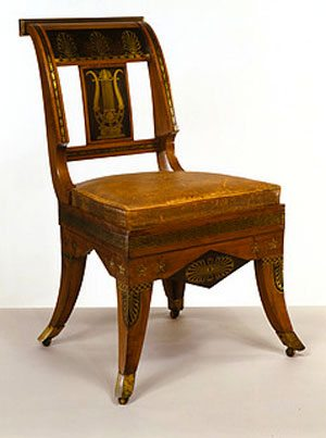 Chair designed by Thomas Hope, London in 1807 and made in 1892