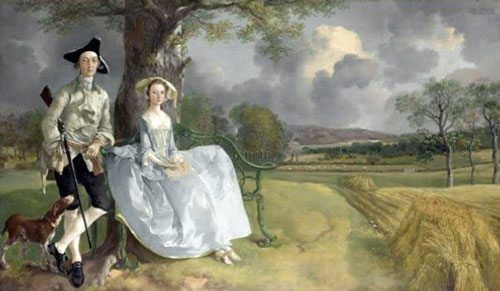 Mr & Mrs Andrews in a Cornfield by Thomas Gainsborough