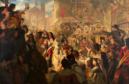 Charles II entering London following his Restoration to the throne of England