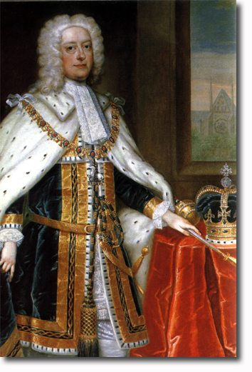 England's King George II, who among his accomplishments,  established the role of a 'prime' minister