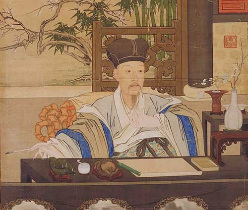 Emperor Ch'ien-lung painted by Jesuit priest Giuseppe Castiglione he introduced perspective into Chinese art