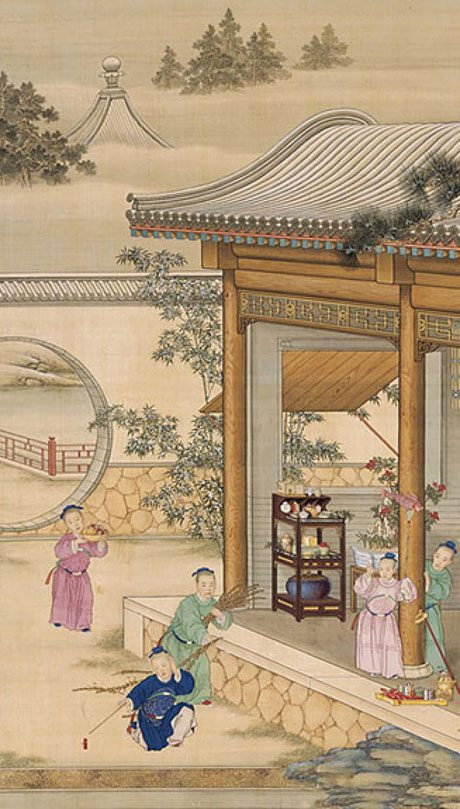 Giuseppe Castiglione Painter Court Of 3 Chinese