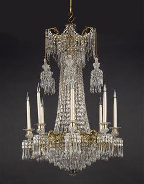 Eight-Light-Cut-Glass-Chandelier-with-metal-mounts-c1815-English,-Mallett-Antiques