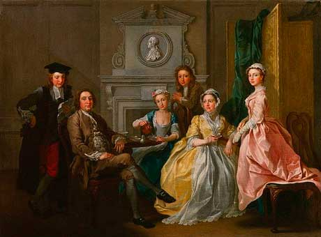 Taking tea together during the eighteenth century