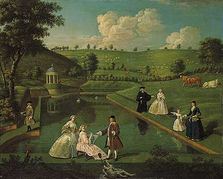 In an english country garden poet painter perfection for Garden design 18th century
