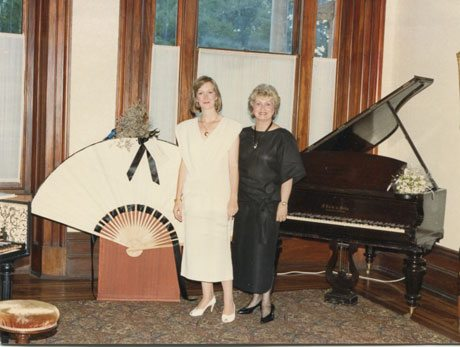 Carolyn McDowall with Anna Clark, mid-1980's Royal Historical Society, Sydney.