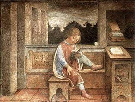 Renaissance-child-reading