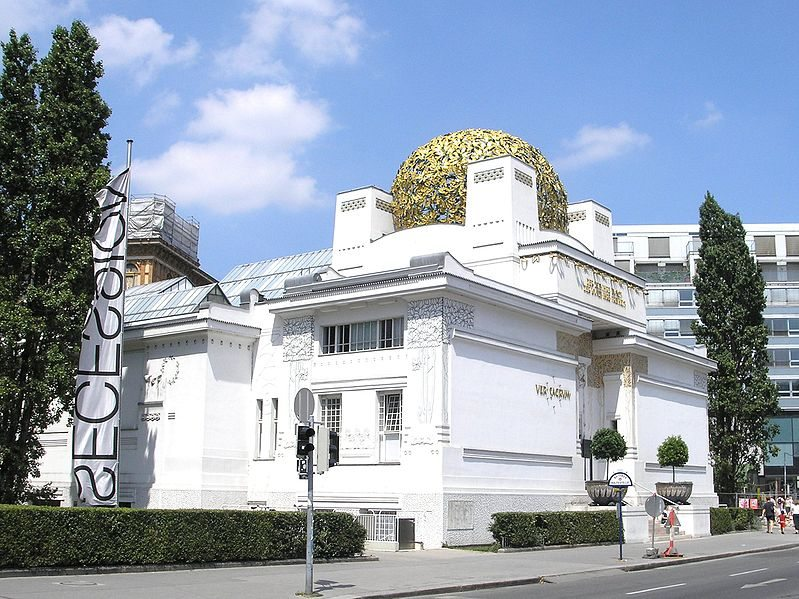 Detail of the Secession building in Vienna, constructed by Joseph Maria Olbrich. It is one of the best known examples of Secessionist architecture.