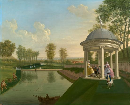 The Brockman family in their temple at Beachborough Manor, courtesy National Gallery Victoria