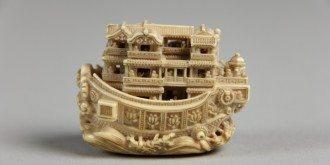 Netsuke pleasure boat made of ivory, 19th century, The Metropolitan Museum of Art, New York