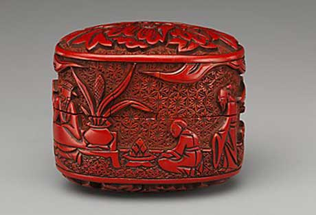 pectacular Red (Cinnibar) Lacquer Netsuke, Metropolitan Museum of Art, New York