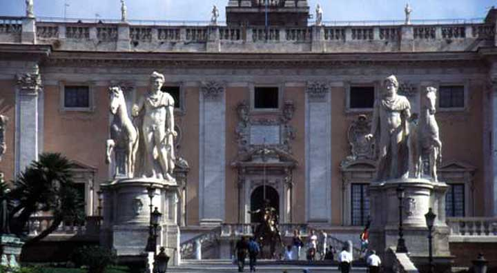 Statues of Castor and Pollux at Rome