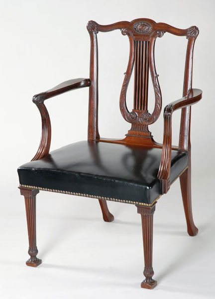 thomas furniture table mahogany cupboard chippendale george at iii ronald a card phillips