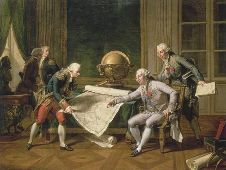 Louis XVI giving instructions to Comte de La Pérouse by Nicolas-André Monsiau courtesy Musée National du Château Versailles