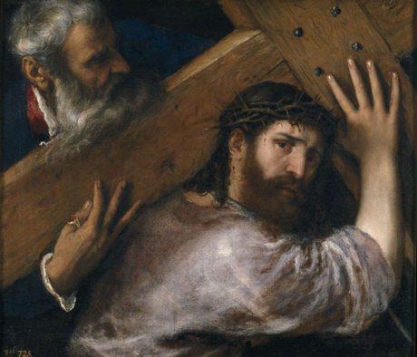 Titian | Christ carrying the Cross (Cristo con la Cruz a cuestas), c.1565 | Pieve di Cadore / Venice c.1489 –1576 | Oil on canvas | 67 x 77cm / P438 | Collection: Museo Nacional del Prado | © Photographic Archive, Museo Nacional del Prado, Madrid