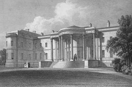 Luton Hoo as designed by Robert Adam: Image from Jones's View of the Seats of Noblemen and Gentlemen 1829