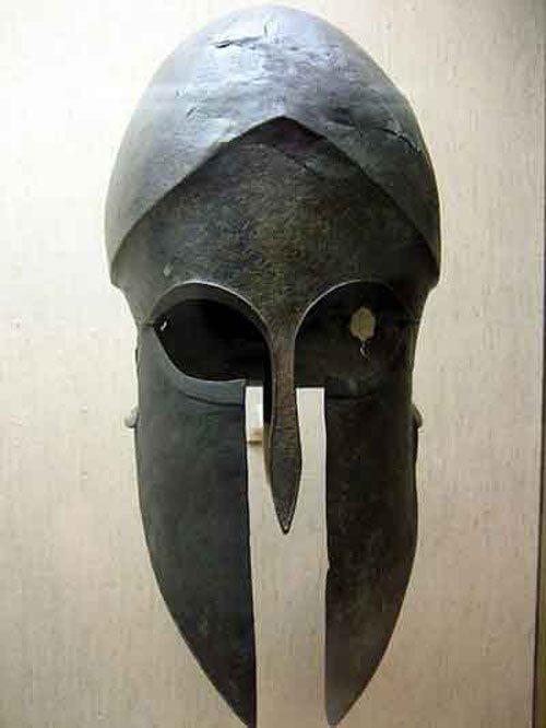 Hoplite Helmet, ancient Greece