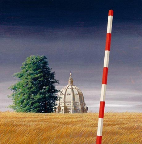 Jeffery Smart, The Dome, 1977 Gift of Eva Besen AO and Marc Besen AO Donated through the Australian Government Cultural Gifts Program 2008, TarraWarra Museum of Art Collection