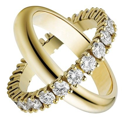 Gold Band and Diamond Band courtesy Cartier