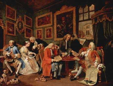 Marriage a la Mode by William Hogarth courtesy National Gallery, London