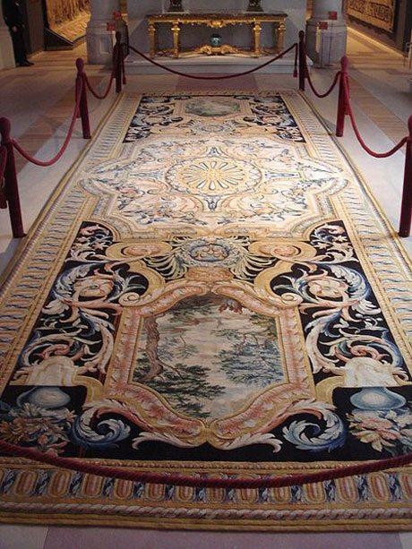 Splendid Savonnerie in the Grande Gallerie du Louvre made between 1670 - 1685