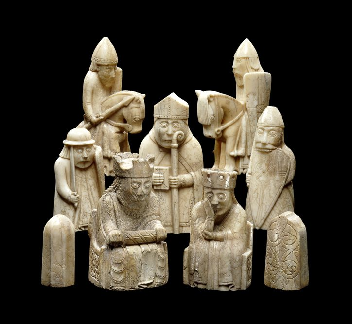 Lewis Chessmen 1150-1145 © The Trustees of the British Museum
