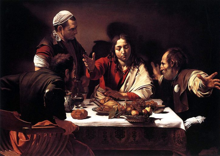 Supper at Emmaus by Caravaggio c1601, National Gallery, London