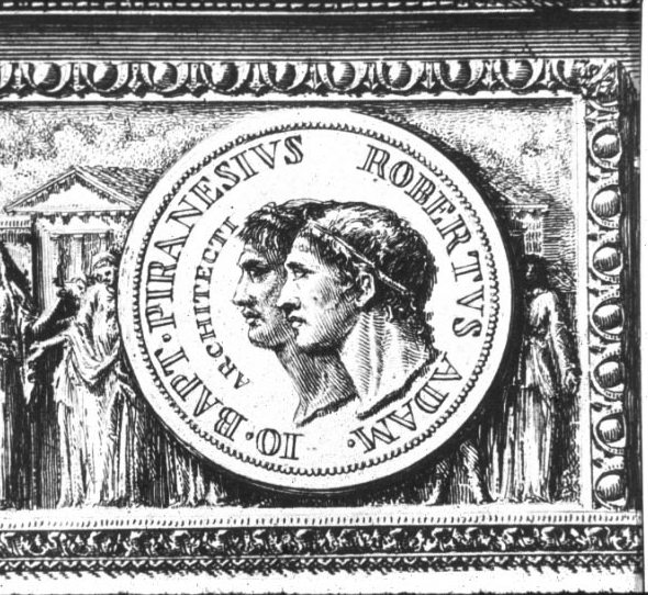 Robert Adam and Piranesi as Heroes on a Coin