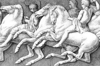 Detail Engraving Horsemen