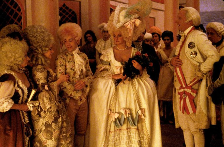 Mozart with the Emperor and two Constanze's, his diva Caterina Cavieleri and wife Constanze meeting - awkward