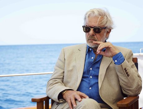 Giancarlo Giannini challenging Jude Law to a wager, courtesy Getty Images