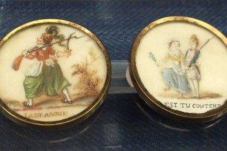 """18th-century buttons from """"Déboutonner la Mode"""" – the 2015 exhibition at Les Arts Décoratifs in Paris"""