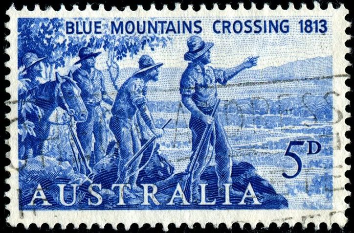 Crossing the Blue Mountains Stamp