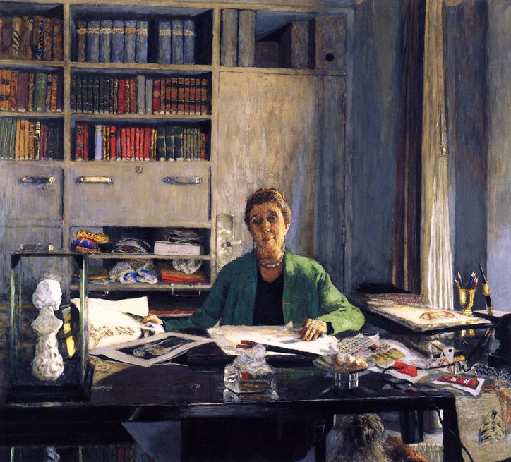 Jeanne Lanvin,at her desk,1935 by Jean-Édouard Vuillard