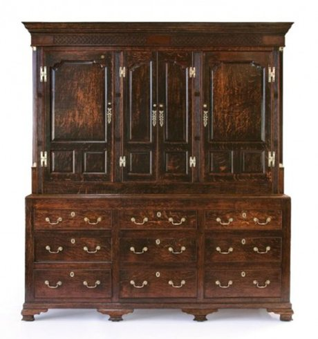 A Lancashire oak housekeepers Cupboard courtesy Martyn Cook Antiques, Rushcutters Bay, Sydney