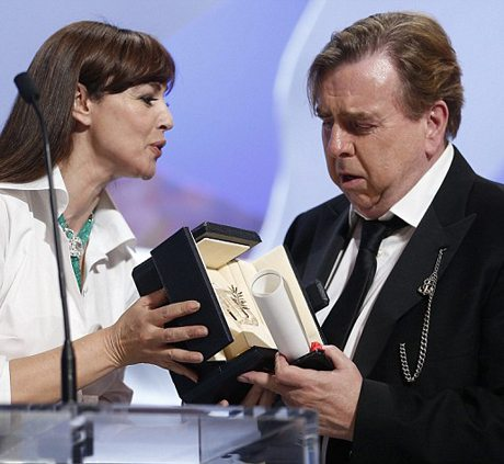 Is that really for me  Monica Bellucci... Timothy Spall at Cannes