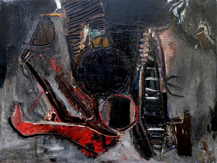 Ron Lambert, Contraband, 1960s, oil on board, Estate of the artist