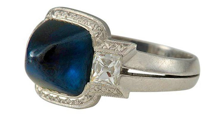 Platinum and Diamond Art Deco Ring