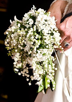 Catherine Middleton's wedding bouquet contained a sprig of myrtle, from a bush planted by Queen Victoria on the Isle of Wight in 1845. Photo Credit: Ian West