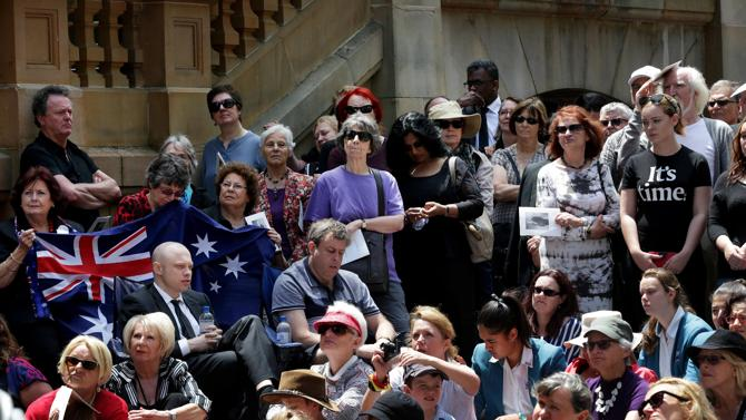 Crowd at Gough's funeral