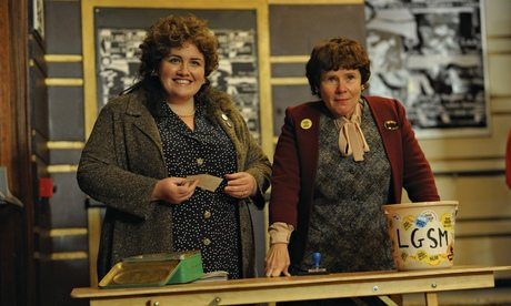 Jessica Gunning, left, as Siân James, with Imelda Staunton in the film Pride.