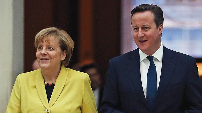German Chancellor and British Prime Minister