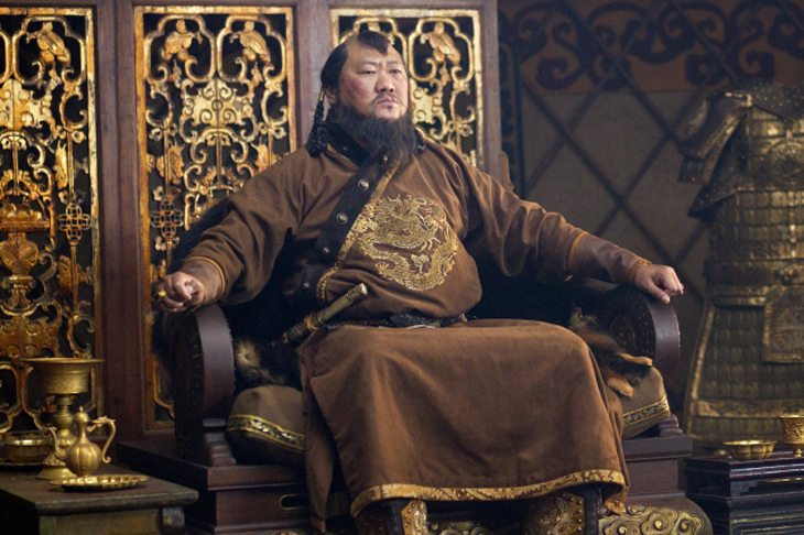 Benedict Wong as Kublai Kahn, from Netflix's Marco Polo photo by Phil Bray